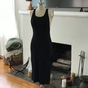 Black Reformation Sleeveless Ribbed Dress, XS